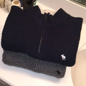 Two Abercrombie & Fitch Sweaters (Size: Large)